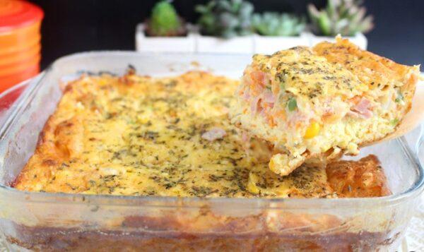 omelete de forno completa