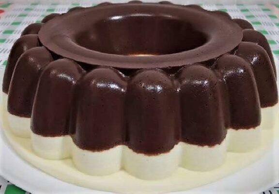 Pudim de Chocolate com Leite Ninho facil e gostoso