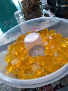 Gelatina com creme de leite 3