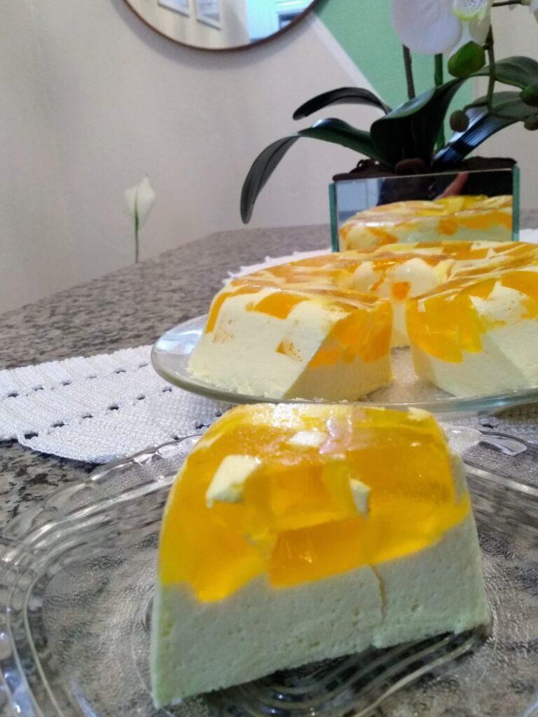 Gelatina com creme de leite 6